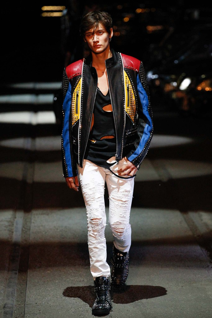 Phillip Plein en la Milan Fashion Week SS16 menswear