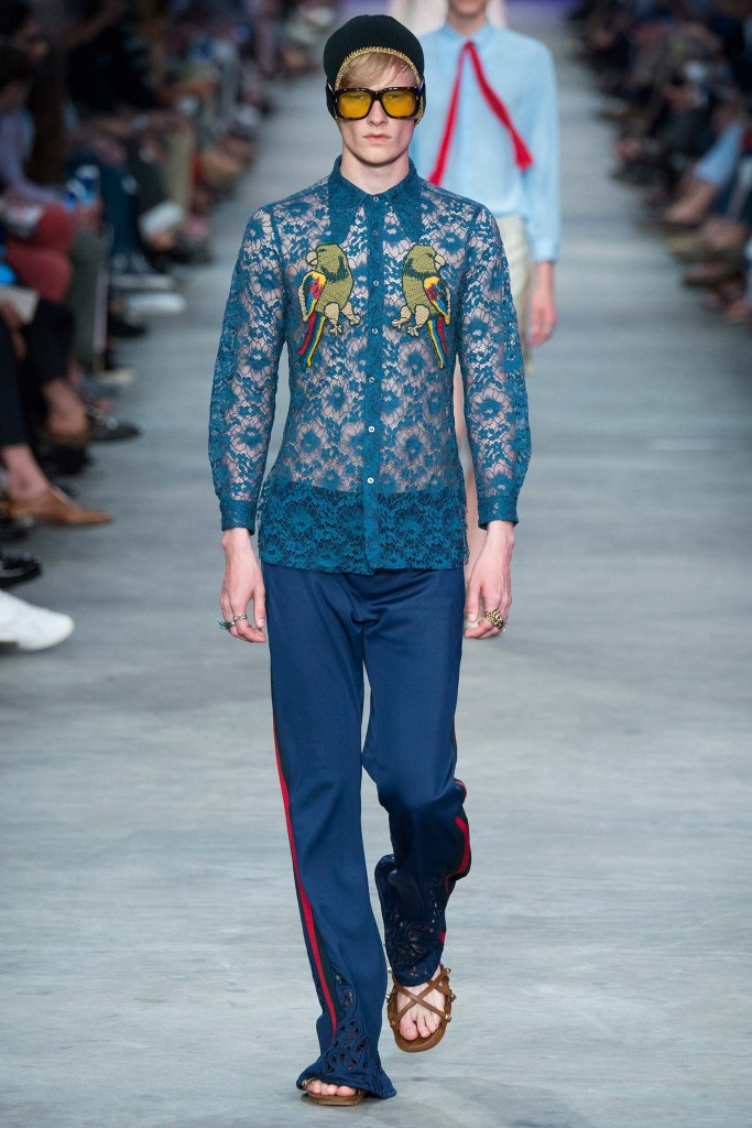 Gucci en la Milan Fashion Week SS16 menswear