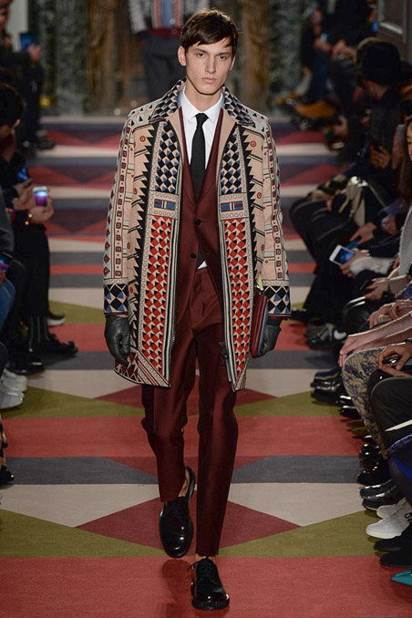Valentino Fall 15 menswear Milan Fashion Week